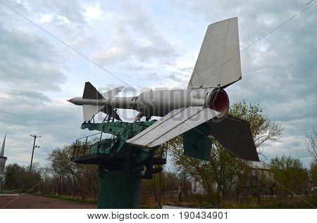 Museum of former Soviet  anti-ballistic missile testing range Sary Shagan.May 7, 2017.Priozersk.Kazakhstan