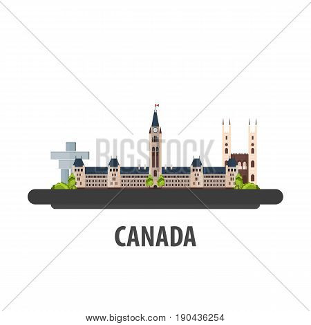 Canada Travel Location. Vacation Or Trip And Holiday.