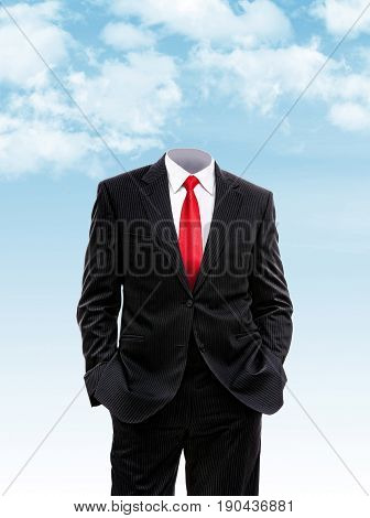 Headless Businessman Hands In His Pocket