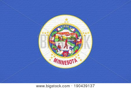 Flag Of Minnesota Wall