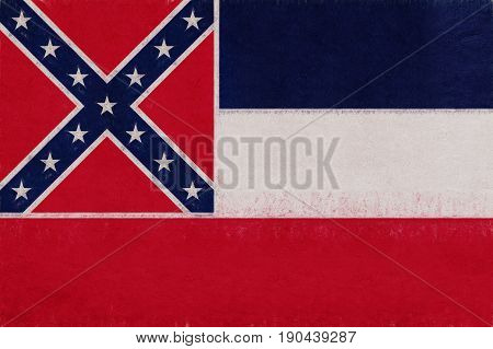Flag Of Mississippi Grunge