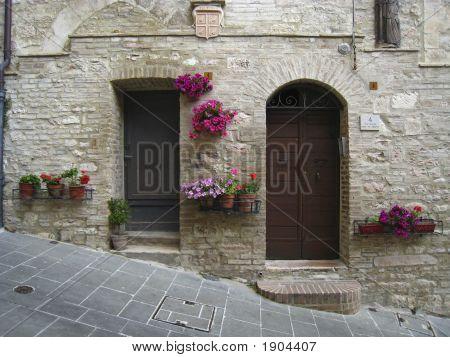 Doors In Assisi, Italy