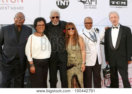 LOS ANGELES - JUN 8:  Morgan Freeman, Work Team at the American Film Institute's Lifetime Achievement Award to Diane Keaton at the Dolby Theater on June 8, 2017 in Los Angeles, CA