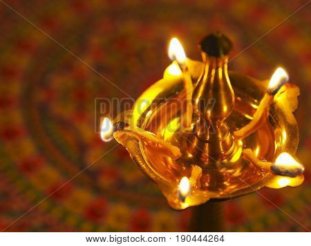 top part of indian oil lamp