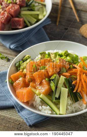 Raw Organic Salmon Poke Bowl
