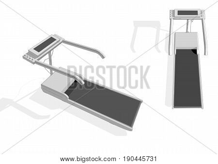 treadmill isolated on white background. 10 EPS