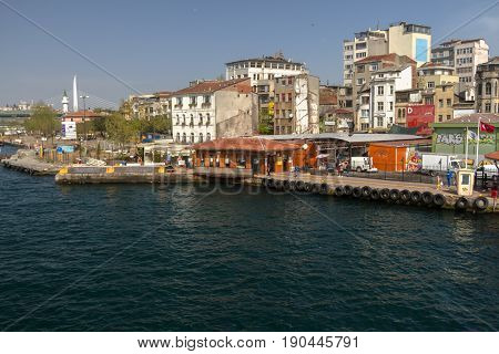View From The Galata Bridge To The Right.