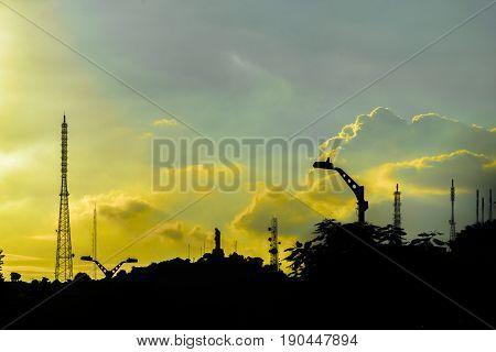 Silhouette Urban Scene, Guayaquil, Ecuador