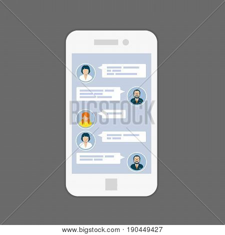 Messaging interface - sms chat service on screen