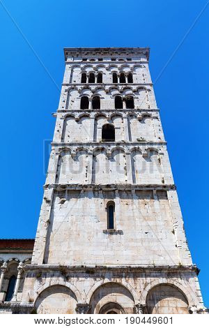 Tower Of The Lucca Cathedral, Lucca, Italy