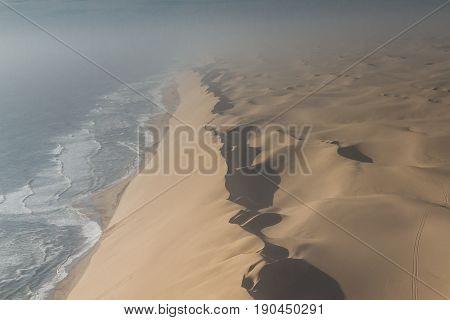Dune wand at the Sceleton coast Namibia Africa