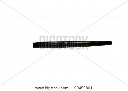 Fountain pen isolated on the white background