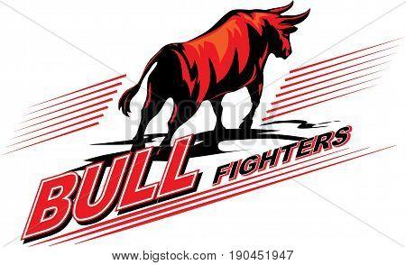 Vector image of a bull. The symbol of bullfighting.