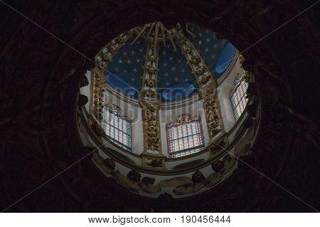 Italy Siena - December 26 2016: interior view of the dome of Duomo di Siena. Metropolitan Cathedral of Santa Maria Assunta on December 26 2016 in Siena Tuscany Italy.