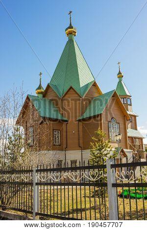 New Church In City Of Polyarnye Zori. Murmansk Region. Russia
