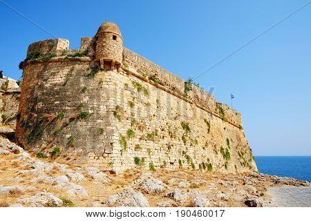 Bastion of citadel Fortezza in city of Rethymno Crete Greece