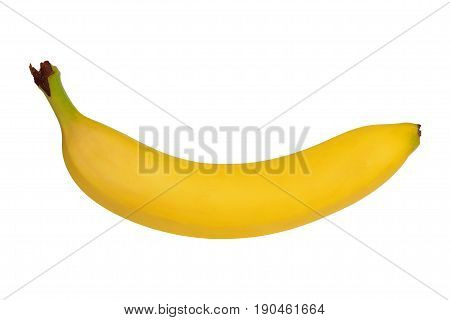 Fresh yellow banana isolated on white background