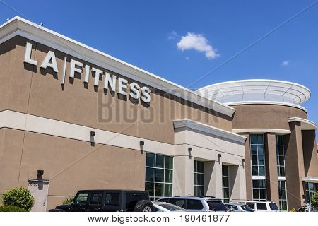 Indianapolis - Circa June 2017: LA Fitness Health Club Location. LA Fitness locations include weight equipment pools and a juice bar