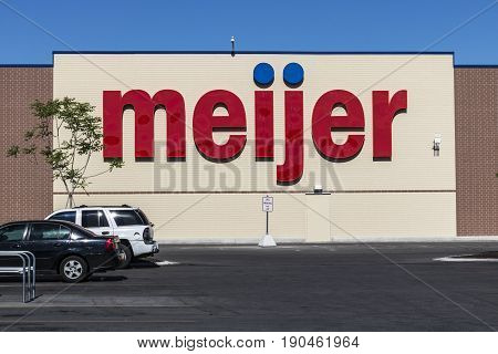 Indianapolis - Circa June 2017: Meijer Retail Location. Meijer is a large supercenter type retailer with over 200 locations