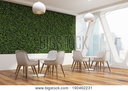 Office Cafe Interior, Grass Wall Side