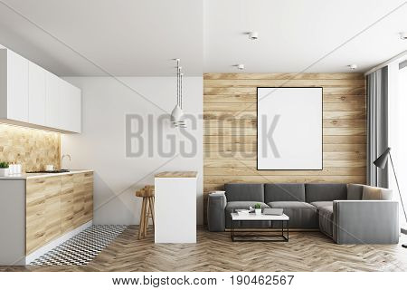 Living Room And Kitchen, Wood
