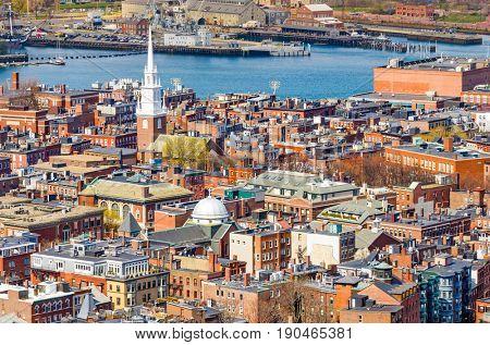 Boston, Massachusetts, USA at North End.