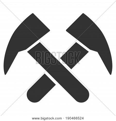 Job Hammers vector icon. Flat gray symbol. Pictogram is isolated on a white background. Designed for web and software interfaces.