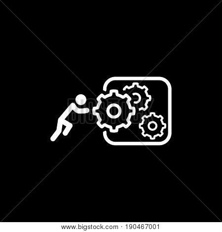 Integration of Innovation Icon. Flat Design. Business Concept. Isolated Illustration.