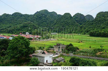 Mountain Scenery In Hai Phong, Vietnam