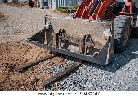 Road Grader - Heavy Earth Moving Road Construction Equipment