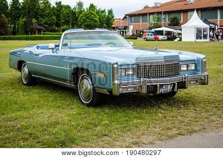 PAAREN IM GLIEN GERMANY - JUNE 03 2017: Full-size personal luxury car Cadillac Eldorado (Seventh generation). Exhibition