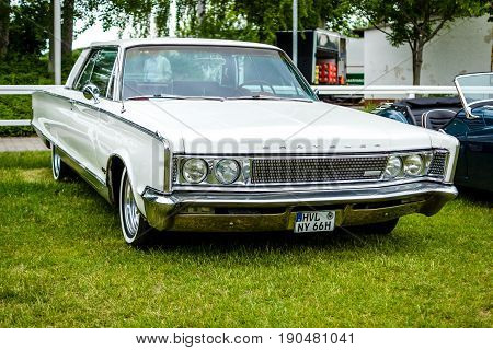 PAAREN IM GLIEN GERMANY - JUNE 03 2017: Full-size car Chrysler New Yorker 1966. Exhibition