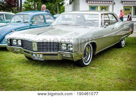 PAAREN IM GLIEN GERMANY - JUNE 03 2017: Full-size luxury car Buick Electra 225 1968. Exhibition