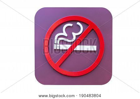no Smoking sign isolated on white background with clipping path.