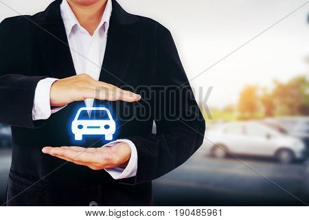 Protection Of Car  (automobile) Insurance And Collision Damage Waiver Concepts