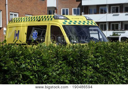Copenhagen /Denmark - 08 June 2017. Medical ambulance. (Photo.Francis Joseph Dean/Deanpictures)