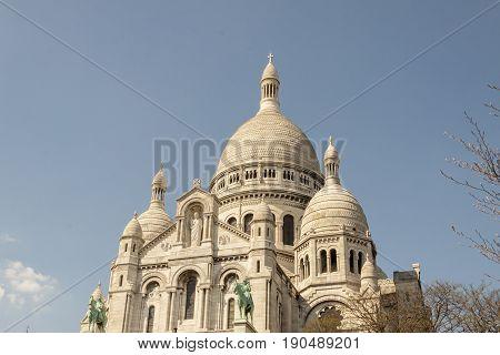 View on Basilica Sacre Coeur - Paris France.