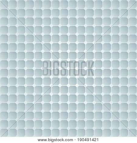 White abstract pattern with square relief ornate