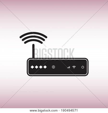 Router flat vector icon. Isolated router vector sign. Wireless network vector symbol.