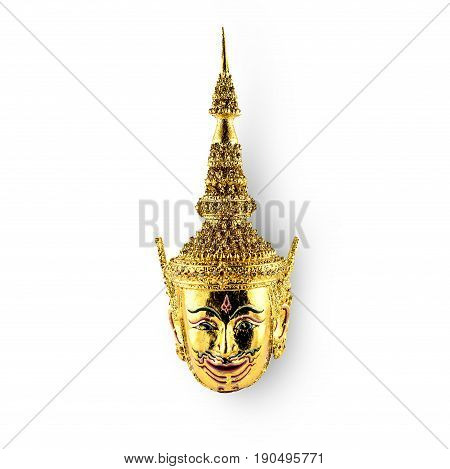 Pantomime Rama model in Thailand on white background