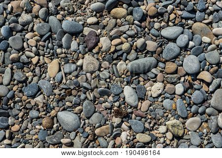 Stones at the beach in Antibes France
