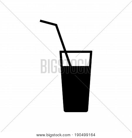 Drink icon. Isolated water glass flat symbol. Vector sign illustration on white