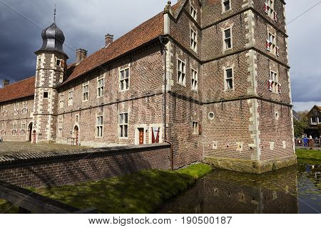 Moated Castle Raesfeld (germany) - Sun And Clouds