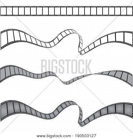 Set of films stripes, vector template for your design