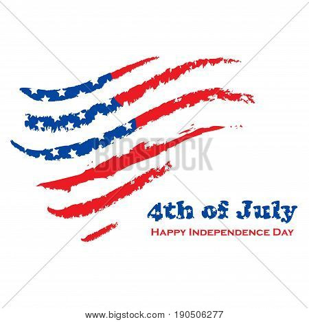 White background with USA grunge flag and text