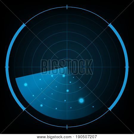 Technology Digital Future Abstract Radar Screen Background
