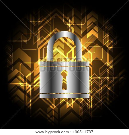 Technology Digital Future Abstract Cyber Security Keyhole Lock Background