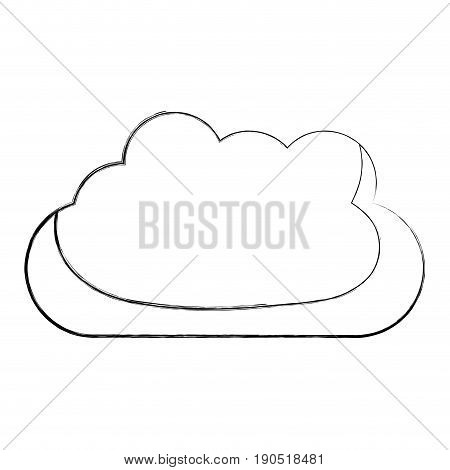 monochrome blurred silhouette with mass of clouds vector illustration