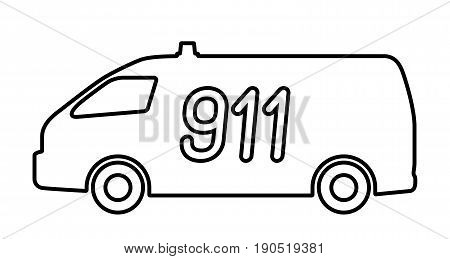 The car rescue service. the vector illustration