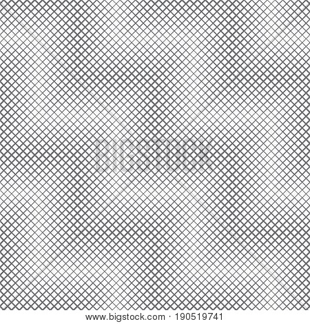 Vector seamless pattern. Abstract halftone linear background. Modern geometrical texture. Repeating diagonal zigzag shapes with intersecting lines of the different thickness. Contemporary design